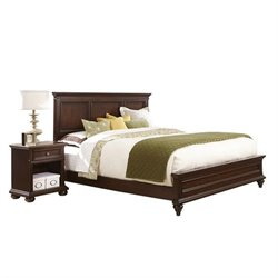 MER-1183 Colonial Classic 2 Piece Wood Bedroom Set in Cherry