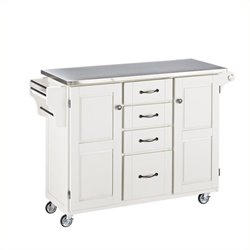 MER-1183 Kitchen Cart in White 2