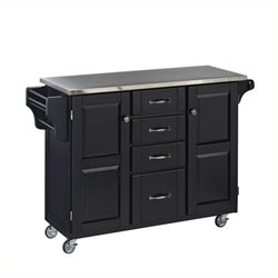MER-1183 Kitchen Cart in Black 2