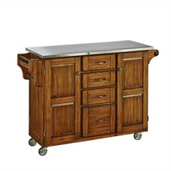 MER-1183 Kitchen Cart in Cottage Oak 2