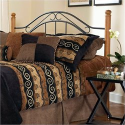 MER-1183 Spindle Headboard in Black and Oak