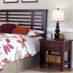 MER-1183 Headboard and Night Stand in Chestnut