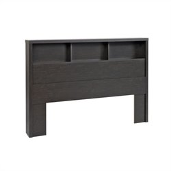 MER-1183 Bookcase Headboard in Black
