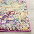 Hawthorne Collection 5' Square Power Loomed Polypropylene Rug in Pink