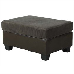 Atlin Designs Ottoman in Olive Gray