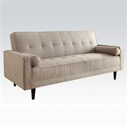 Atlin Designs Convertible Sofa in Sand Linen