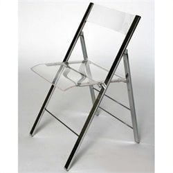 Atlin Designs Acrylic Folding Chair (Set of 2)