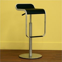 Atlin Designs Adjustable Swivel Faux Leather Bar Stool (Set of 2)