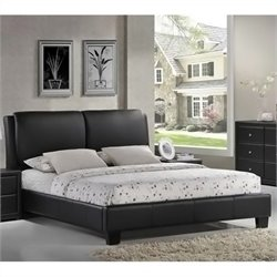 Atlin Designs Queen Leather Platform Bed in Black