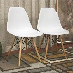 Atlin Designs Accent Chair in White (Set of 2)