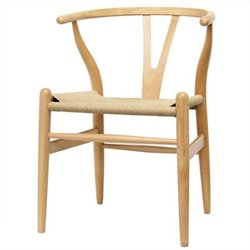Atlin Designs Dining Chair in Natural (Set of 2)