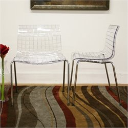 Atlin Designs Acrylic Dining Chair (Set of 2)