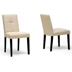 Atlin Designs Dining Chair in Dark Brown (Set of 2)