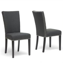 Atlin Designs Dining Chair in Gray (Set of 2)