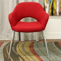 Atlin Designs Fabric Accent Chair in Red