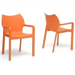 Atlin Designs Dining Chair in Orange (Set of 2)