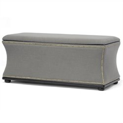 Atlin Designs Storage Ottoman in Beige