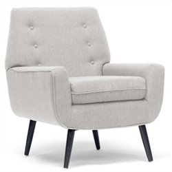 Atlin Designs Upholstered Accent Chair in Beige
