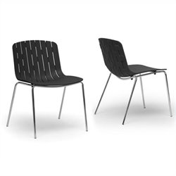 Atlin Designs Dining Chair in Black (Set of 2)