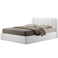 Atlin Designs Upholstered Queen Faux Leather Storage Bed