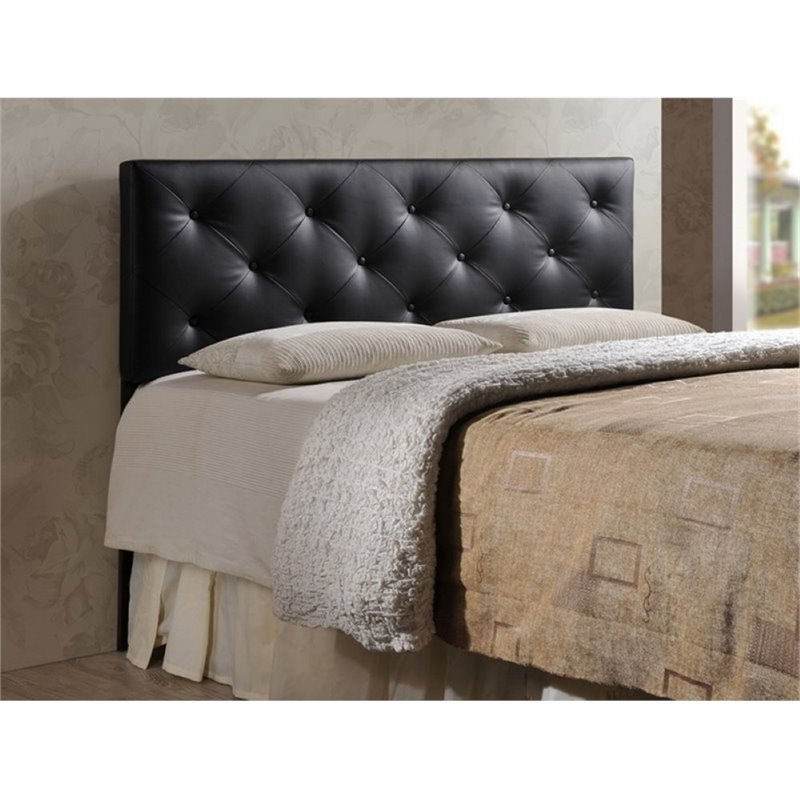 Atlin designs upholstered queen faux leather headboard for Leather headboard designs
