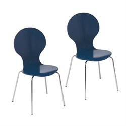 Atlin Designs Dining Chair in Navy (Set of 2)