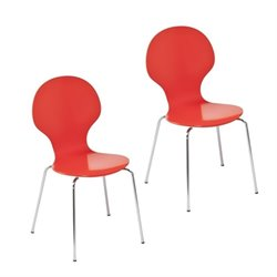 Atlin Designs Dining Chair in Red and Orange (Set of 2)
