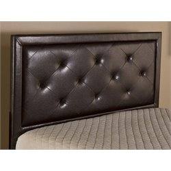 Merch-1188 Panel Headboard with rails in Brown-HG