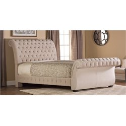 Merch-1188 Atlin Designs Upholstered Sleigh Bed in Buckwheat-MKH