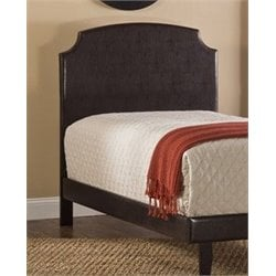 Merch-1188 Atlin Designs Panel Headboard with Rails in Brown-CDE