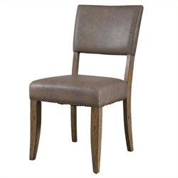 Atlin Designs Faux Leather Dining Chair (Set of 2)