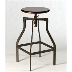 Atlin Designs Adjustable Backless Counter Stool in Cherry