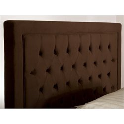 Atlin Designs Tufted Queen Panel Headboard in Chocolate