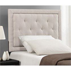 Atlin Designs Upholstered Twin Panel Headboard in Cream