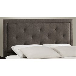 Atlin Designs Upholstered Twin Panel Headboard in Black