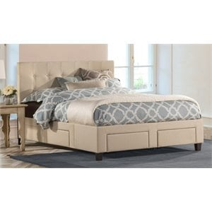 Merch-1188 Atlin Designs Upholstered Storage Panel Bed with 6 Drawer