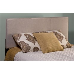 Atlin Designs Upholstered Full Panel Headboard in Cream