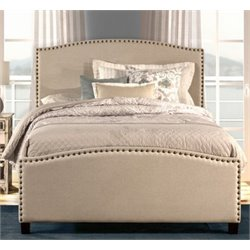 Atlin Designs Upholstered Twin Panel Bed in Light Taupe