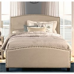 Atlin Designs Upholstered Full Panel Bed in Light Taupe