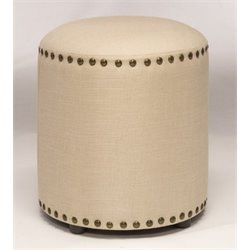 Atlin Designs Vanity Stool in Cream