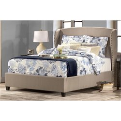 Atlin Designs Upholstered King Panel Bed in Beige