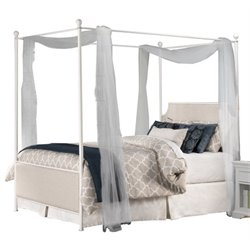 Atlin Designs Full Panel Canopy Bed in Oatmeal