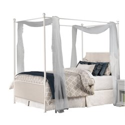Merch-1188 Panel Canopy Bed in Oatmeal-SH