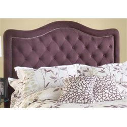 Atlin Designs Upholstered Tufted King Headboard in Purple