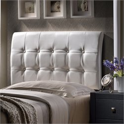 Atlin Designs Tufted Twin Panel Headboard in White