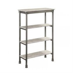 Atlin Designs 3 Shelf Bookcase in Gray and Marble