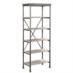 Atlin Designs 5 Shelf Bookcase in Gray and Marble