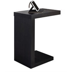 Atlin Designs Accent End Table in Cappuccino
