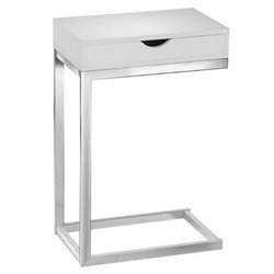 Atlin Designs Accent End Table in Glossy White