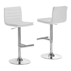 Atlin Designs Faux Leather Adjustable Swivel Bar Stool (Set of 2)
